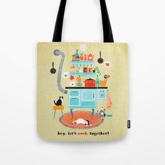 let´s cook together Tote Bag