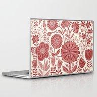 Red Flowers Laptop & iPad Skin