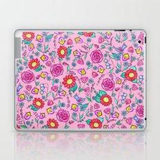 Pink floral Laptop & iPad Skin