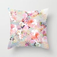 Throw Pillow featuring Love Of A Flower by Girly Trend