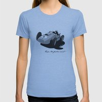Fearless Count Black & White Womens Fitted Tee Athletic Blue SMALL