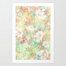 Vintage Flowers XXXIX - for iphone Art Print