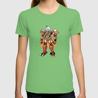 Mecha Owl Womens Fitted Tee Grass SMALL