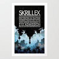 Skrillex Concert Poster Art Print