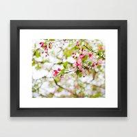 Spring Confetti Blossoms Framed Art Print