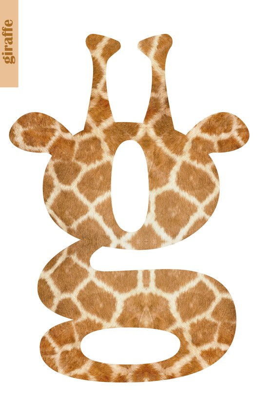 G For Giraffe Art Print