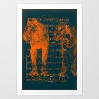 Lion Anatomy V Art Print