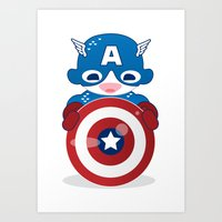 CAPTAIN AMERICA ROBOTIC Art Print
