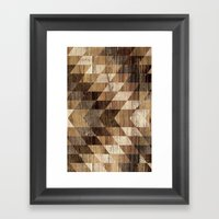 Wood Grain Tribal Geomet… Framed Art Print