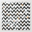 Chevron Glitter Canvas Print