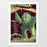 Art Print featuring Bioshock by Fabled Creative