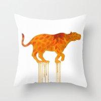 Watercolor : Jaguar 1 Throw Pillow