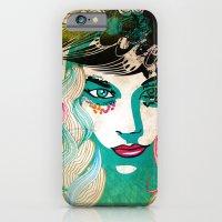 Floral Girl Illustration iPhone 6 Slim Case