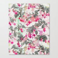Rainbow Fuchsia Floral P… Canvas Print