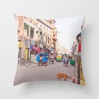 India New Delhi Paharganj 5489 Throw Pillow