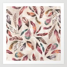 Feather Love Art Print