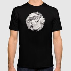 White Trash SMALL Black Mens Fitted Tee