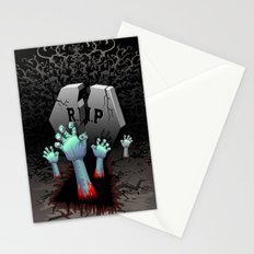 Zombie Hands on Cemetery Stationery Cards