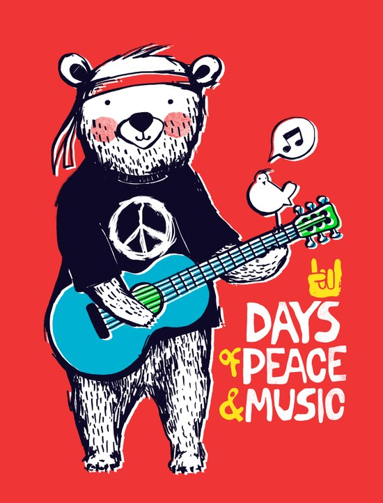 Days Of Peace & Music Art Print