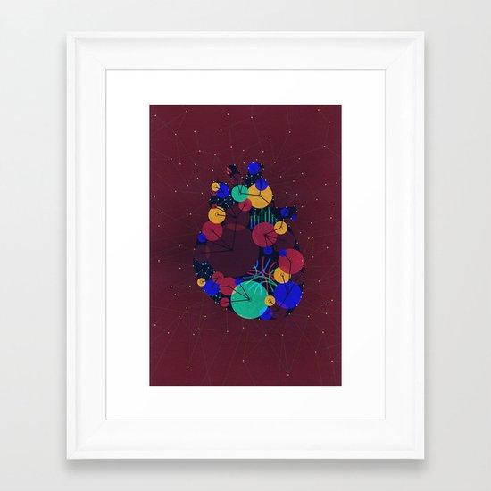 Data Heart Framed Art Print