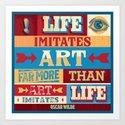 Life and Art Art Print