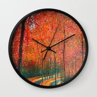 Beautiful Colors Of Autu… Wall Clock