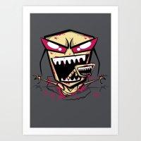 Chest Burst Of Doom Art Print