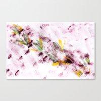 Purple Flying Bugs Canvas Print