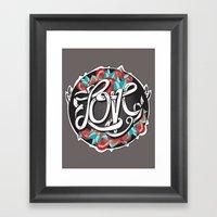 Love -Ribbon-Word Framed Art Print
