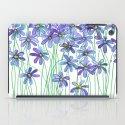 Purple Daisies in Watercolor & Colored Pencil iPad Case