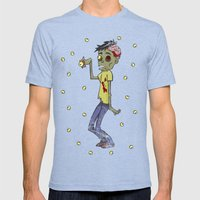 Zombie Watch Mens Fitted Tee Tri-Blue SMALL