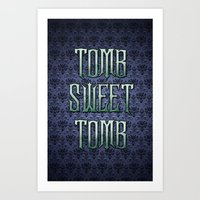 Haunted Mansion - Tomb Sweet Tomb Art Print