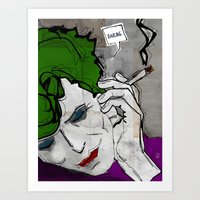 David Bowie As The Joker Art Print