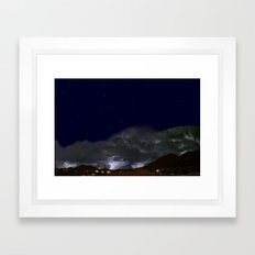 Starry Monsoon Night Framed Art Print