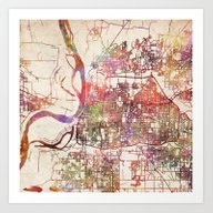 Memphis Map Tennessee Art Print