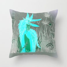 Woman Wolf 2 Throw Pillow