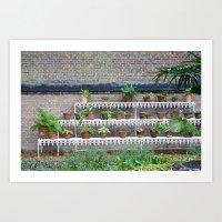 Pots and plants Art Print