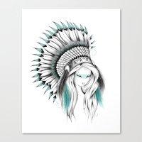 Indian Headdress Canvas Print