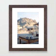 on the edge of the world Framed Art Print
