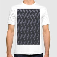 Woven Black Mens Fitted Tee White SMALL