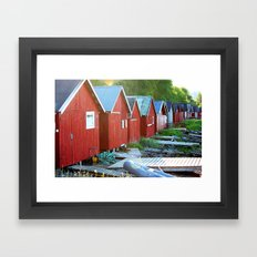 by the fjord Framed Art Print