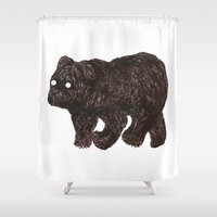 blind as a bear Shower Curtain
