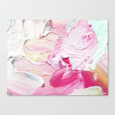 Minty Rose (Abstract Painting) Canvas Print