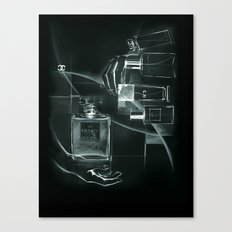 x-ray of perfume Canvas Print