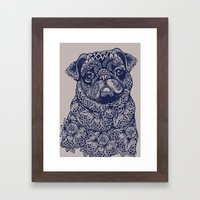 MANDALA OF PUG Framed Art Print