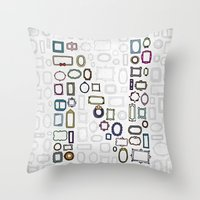 letter N - nailed frames Throw Pillow