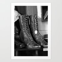Ladies Boots Art Print