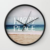 My Happy Place (Beach) Wall Clock