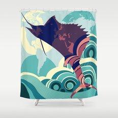 Seven Seas Explorer  Shower Curtain