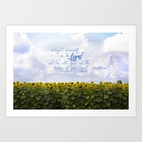 Sunflower Delight - Psal… Art Print